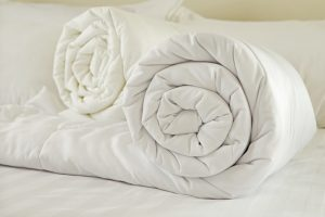 rolled duvets