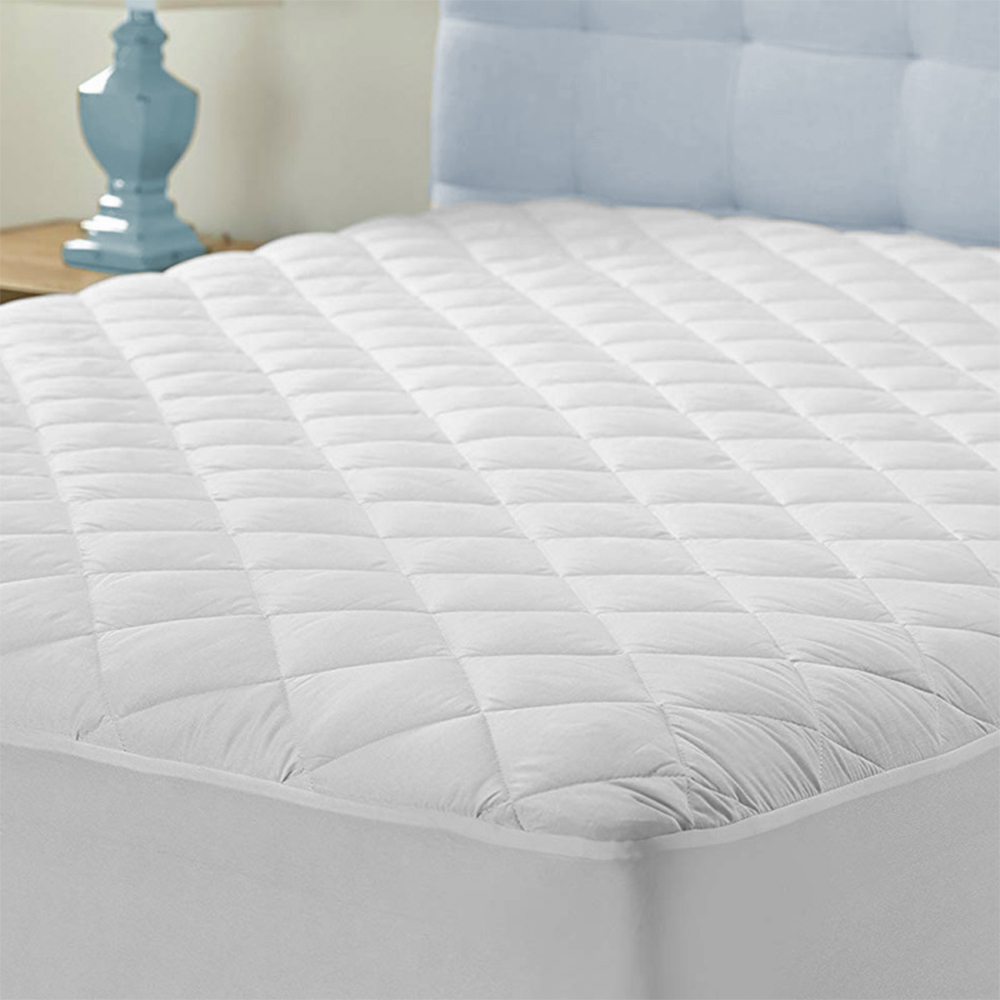 Waterproof Quilted Matress Protector Comfortable Luxury Soft Fitted Sheet Single