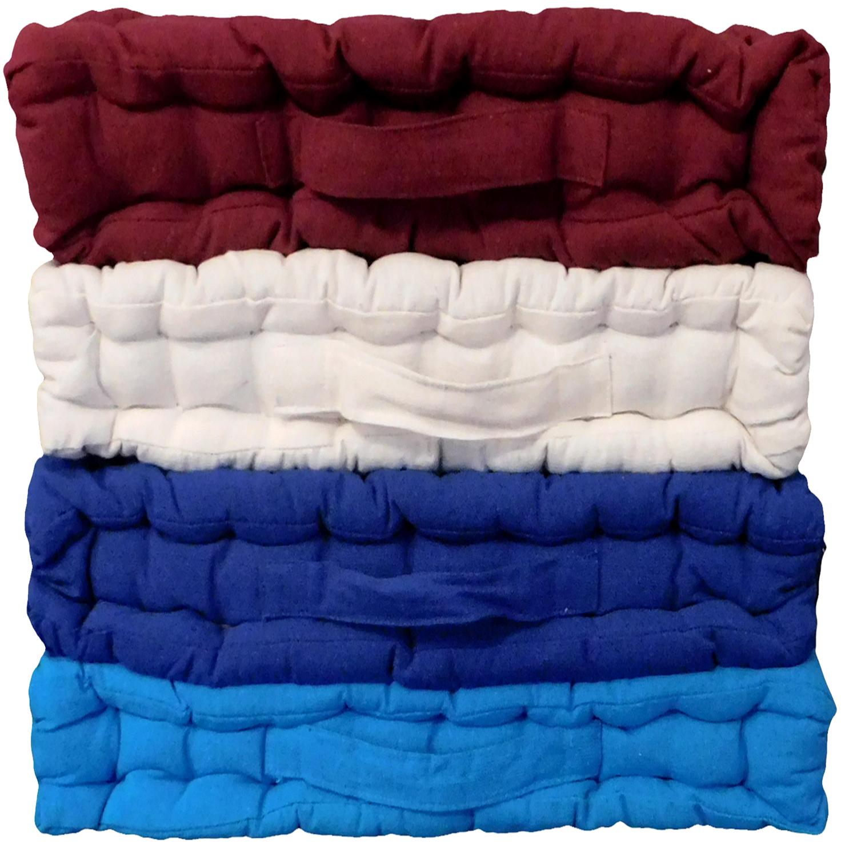 (Navy) Armchair Booster Cushion - Coastal Linen Supplies