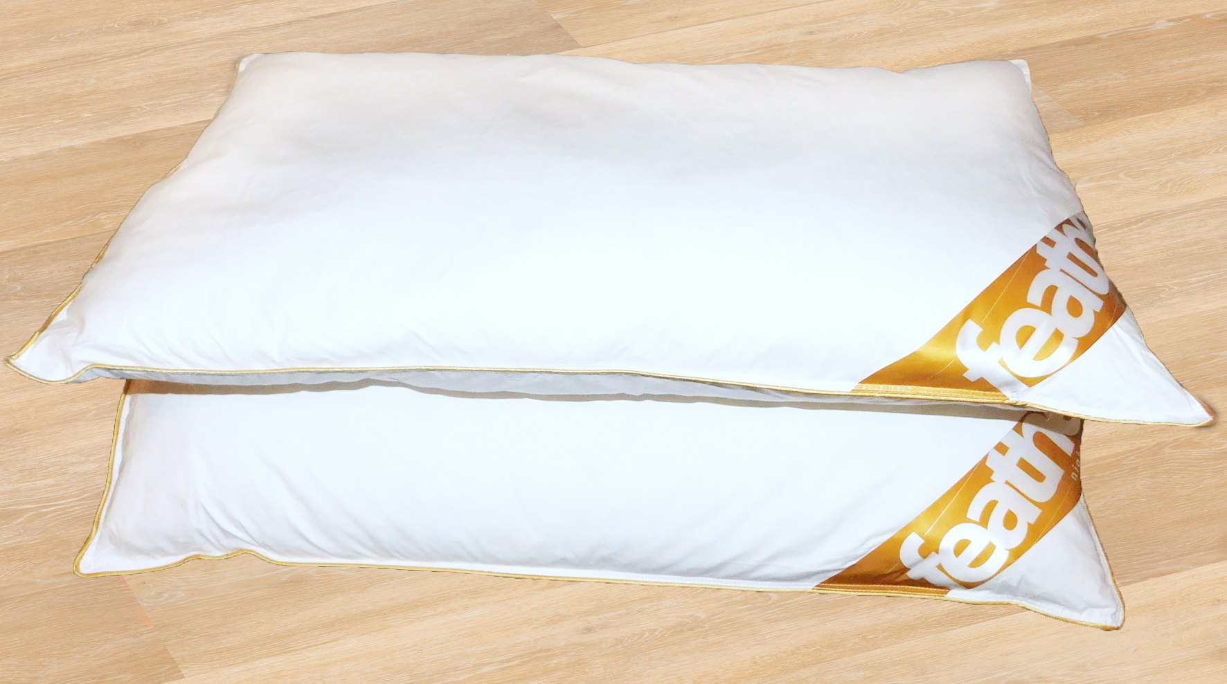 """Goose Feather and Down Pillow, Pair, Size 48 x 74 cms, 19"""" x 29"""","""
