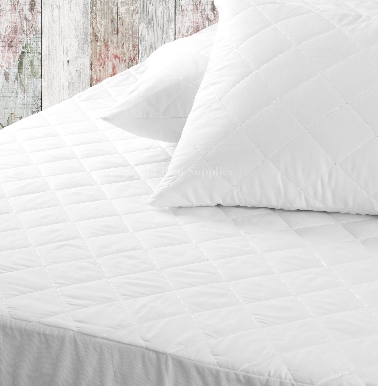 Extra Deep Quilted Mattress Topper protector Egyptian Cotton Percale protector